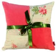 Декоративная подушка с бантиком