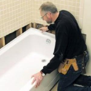 Установка и подключение ванны,  монтаж и демонтаж